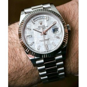 Rolex [NEW] Day-Date 40mm White Gold 228239 Meteorite Dial Diamond Index Mens Watch