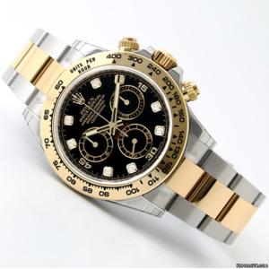 Rolex [NEW] 116503G Black Dial with Diamonds Cosmograph Daytona Watch