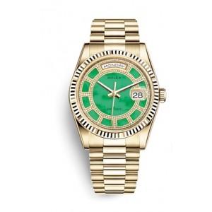 Rolex NEW-全新 118238 Carousel Green Jade Diamond President Bracelet (Retail:HK$354,000)