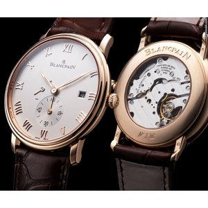 Blancpain [NEW] Villeret Small Seconds Date & Power Reserve 6606-3642-55b (Retail:HK$154,000)