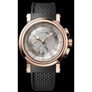 Breguet [NEW] Marine Chronograph 5827BR/12/5ZU Silver Dial Mens Watch