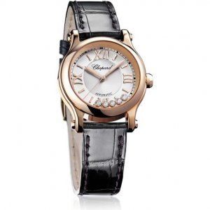 Chopard 全新 274893-5001HAPPY SPORT 30 MM AUTOMATIC WATCH 18K ROSE GOLD AND DIAMONDS LADIES WATCH