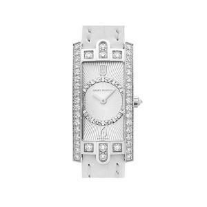 Harry Winston [NEW] Avenue C Art Deco quartz 18K white gold timepiece white light partially AVCQHM19WW129
