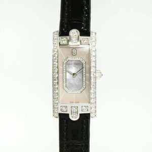 Harry Winston [NEW] Avenue C Emerald quartz 18K white gold timepiece white light mother of pearl partially AVCQHM19WW136