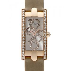 Harry Winston [NEW] Avenue C Mini special edition quartz 18K rose gold timepiece white light partially AVCQHM16RR034