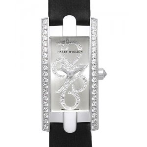 Harry Winston [NEW] Avenue C Mini special edition quartz 18K white gold timepiece white light partially AVCQHM16WW041