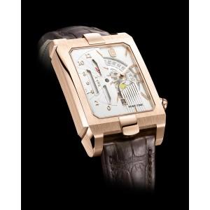 Harry Winston [NEW] Avenue Dual Time automatic 18K rose gold timepiece AVEATZ37RR001