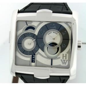 Harry Winston [NEW] Avenue Squared A² automatic 18K white gold timepiece white light dial AVSATZ45WW004