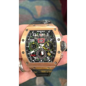 RICHARD MILLE [NEW] RM 11-02 ROSE GOLD GMT FLYBACK CHRONOGRAPH DUAL TIME ZONE