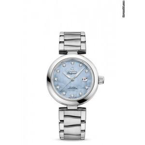 Omega [NEW] 42530342057003 De Ville Ladymatic Blue Pearl Diamonds (Retail:HK$64,600)