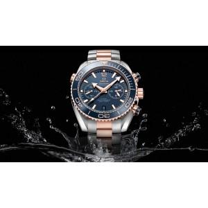 Omega NEW Men's 21520465103001 Seamaster Planet Ocean Chronogra