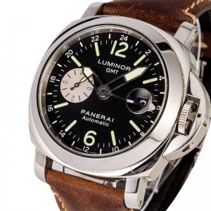 PANERAI NEW-全新 PAM01088 LUMINOR GMT AUTOMATIC ACCIAIO (Retail:US$7,500)