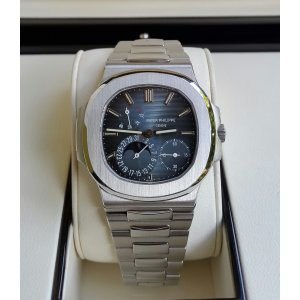 """Patek Philippe [NEW] Mens Stainless Steel """"Nautilus"""" 5712/1A-001 Blue Dial Watch"""