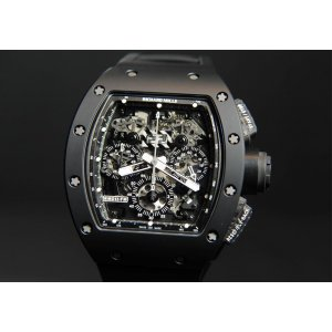 Richard Mille [LIKE-NEW] RM 011 Automatic Flyback Chronograph Black Phantom (Retail: USD 160,000) - SOLD!!