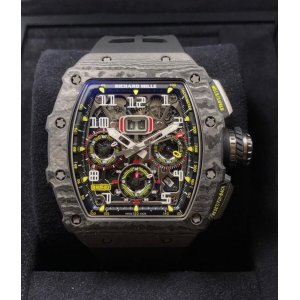 Richard Mille NEW-全新 RM 11-03 Black Carbon NTPT Flyback Chronograph Watch