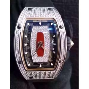 Richard Mille [NEW+RARE] RM 07-01 Ladies White Gold Med Set Diamond Watch