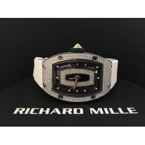 Richard Mille [NEW] RM 007 White Gold Full Set Pave Diamond Ladies Watch