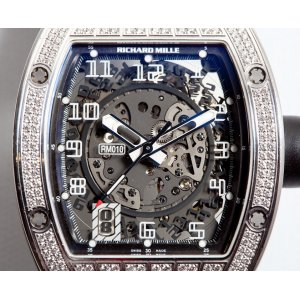 Richard Mille [NEW] RM 010 White Gold Diamond - SOLD!!