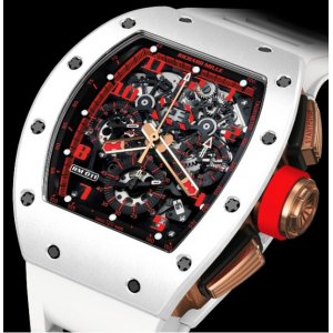 Richard Mille [NEW] RM 011 Automatic Flyback Chronograph White Demon - SOLD!!
