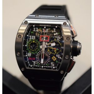 Richard Mille [NEW] RM 11-02 Titanium GMT Flyback Chronograph Dual Time Zone (Retail:HK$1,211,100)