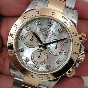 Rolex [NEW] 116503G White Mother Of Pearl Dial Mens Watch