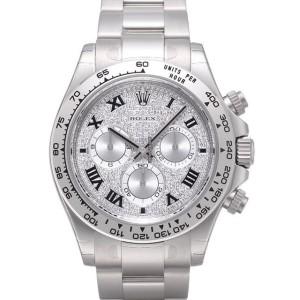 Rolex [NEW] 116509 ZER Cosmograph Daytona Paved Diamond Dial Black Roman Index (Retail:HK$372,100)