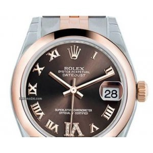 Rolex [NEW] 178241 31mm Rolex Datejust Chocolate Rome, VI with Diamonds Jubilee Bracelet