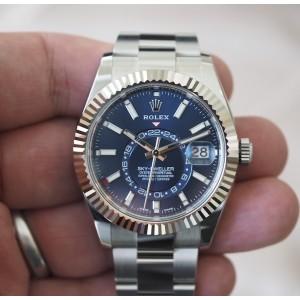 Rolex [NEW 2017 MODEL] Sky-Dweller 326934 Blue Dial Watch