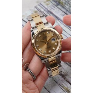 Rolex [NEW 2018 MODEL] DateJust 36mm 126233G Champagne Diamond Dial Oyster