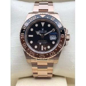 Rolex [NEW 2018 MODEL] GMT-MASTER II Full Rose Gold 126715CHNR