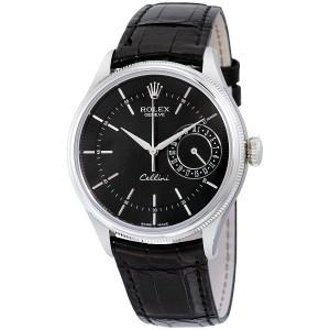 Rolex [NEW] Cellini Date WG 50519 black 39mm (List Price: HK$138,800)