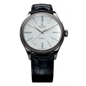 Rolex [NEW] Cellini Time WG 50509 White 39mm Watch (List Price: HK$118,500)