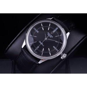 Rolex [NEW] Cellini Time White Gold 50509 Black Watch (Retail: HK$118,500)
