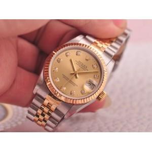 Rolex [NEW] Datejust 31mm 178273G Champagne Diamond Ladies Watch