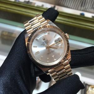 Rolex [NEW] Day-date 18k Rose Gold Sundust Diamond Index 228235A
