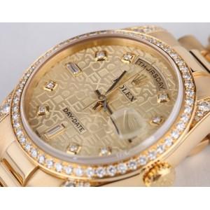 Rolex [NEW] Day-Date President 118338 Mens 18K Yellow Gold Diamond (Retail:HK$275,800)