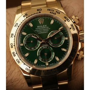 Rolex [NEW] 綠色地通拿 Cosmograph Daytona 116508 Green Dial Yellow Gold Watch (Retail:HK$256,600)