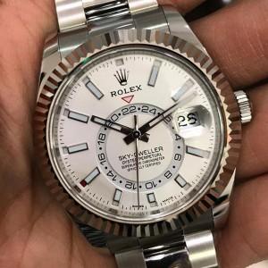 Rolex NEW-全新-香港行貨 Sky Dweller 42mm 326934 White Index watch