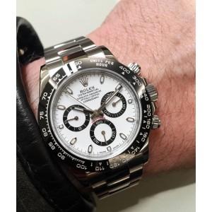 Rolex [NEW][香港行貨] Daytona 116500LN White Dial Cerachrom Black Bezel